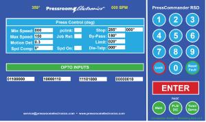 PressCommander Touchscreen